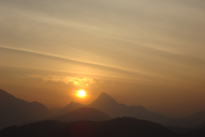 Sun Rising Over the Indian Sky